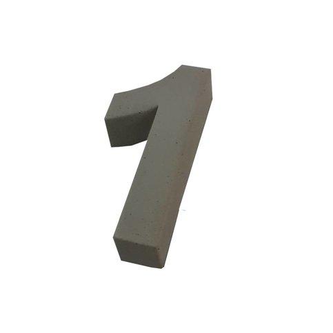 Huisnummer beton 1