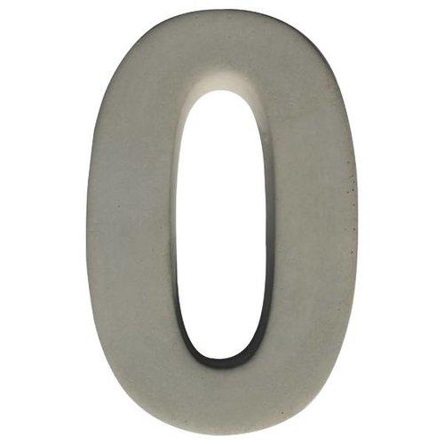 Huisnummer beton nr. 0