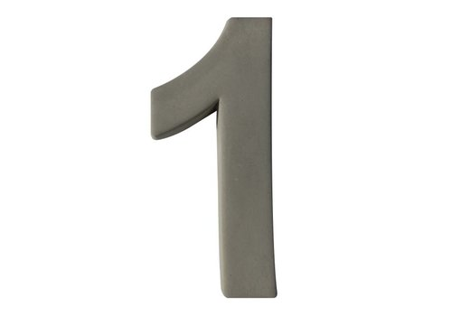 Huisnummer beton nr. 1