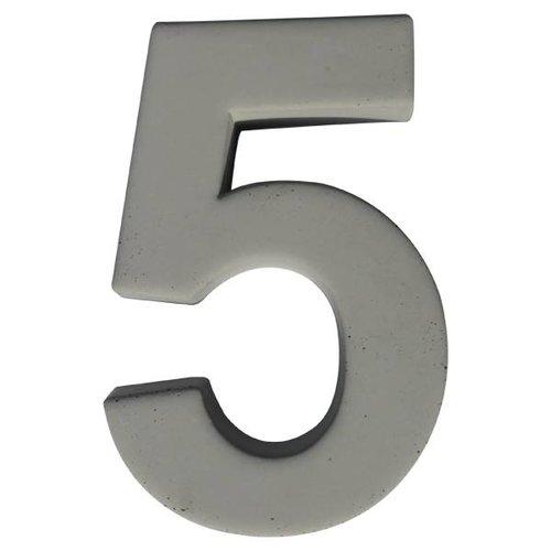 Huisnummer beton 5