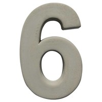 Huisnummer beton nr. 6