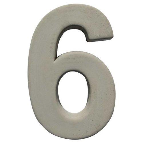 Huisnummer beton 6