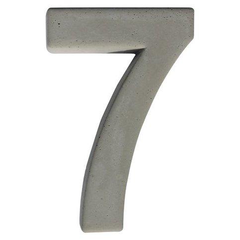 Huisnummer beton 7