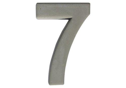 Huisnummer beton nr. 7