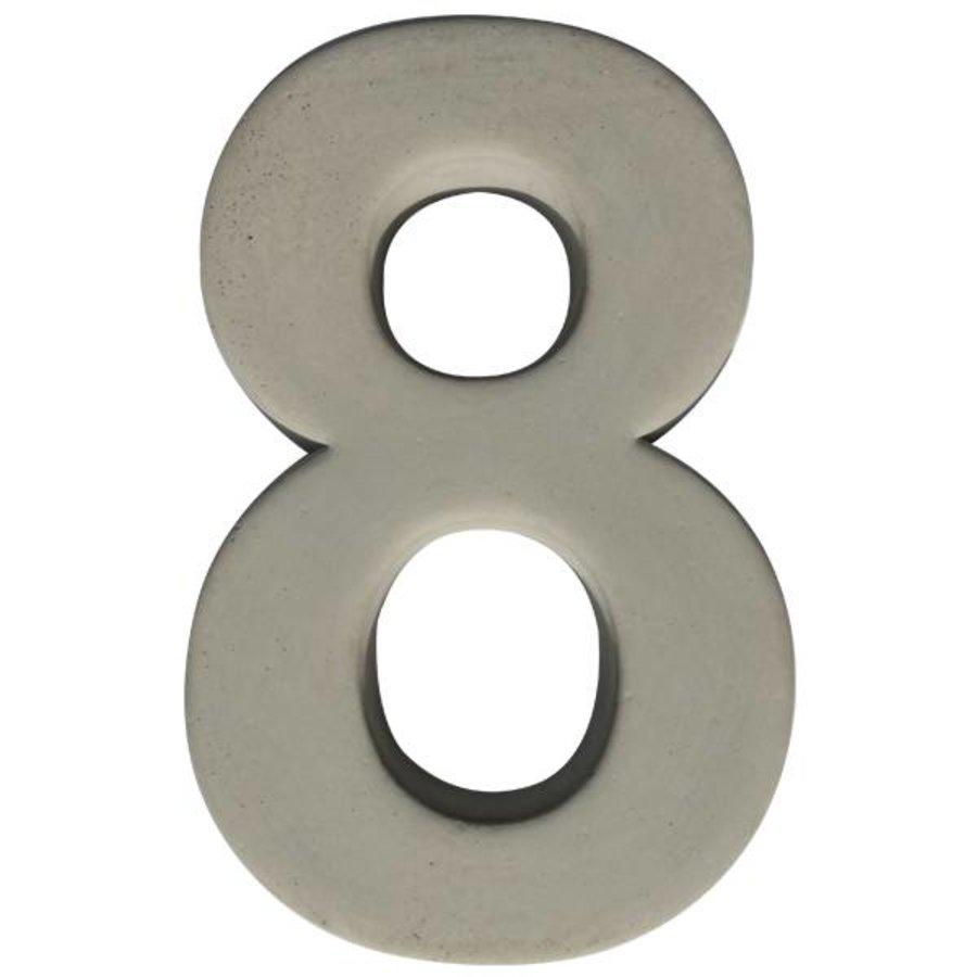 Huisnummer beton nr. 8