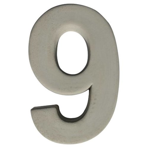 Huisnummer beton nr. 9