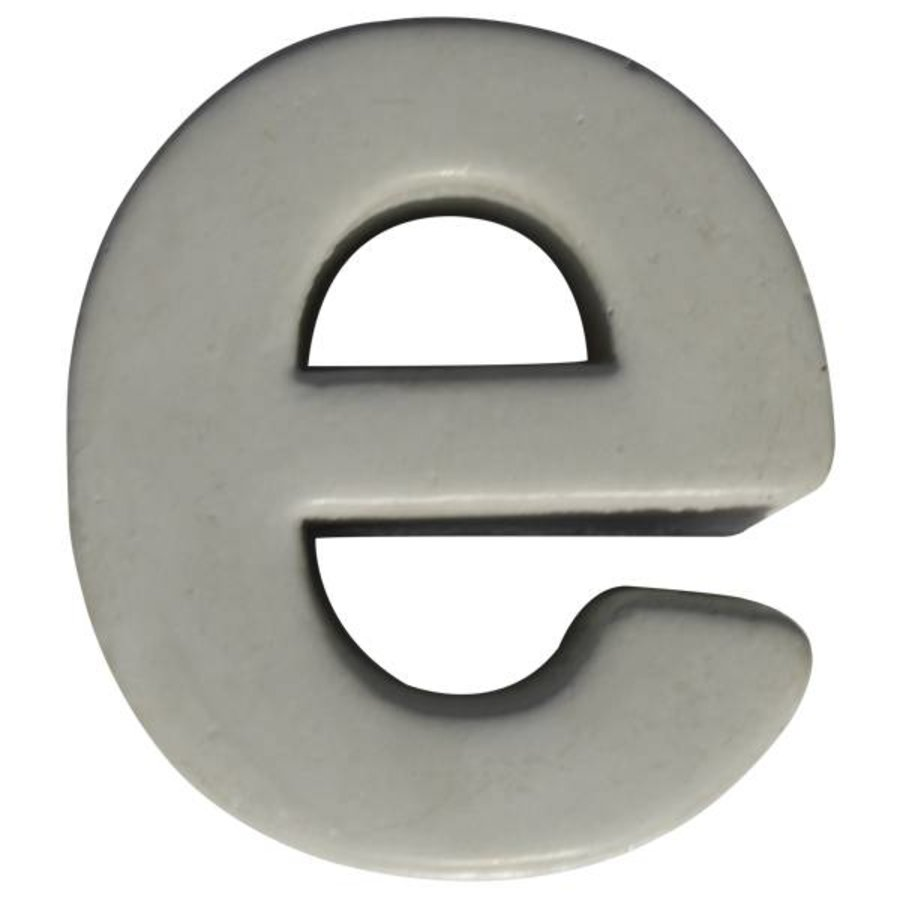 Beton letter e