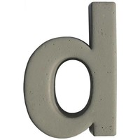 Beton letter d