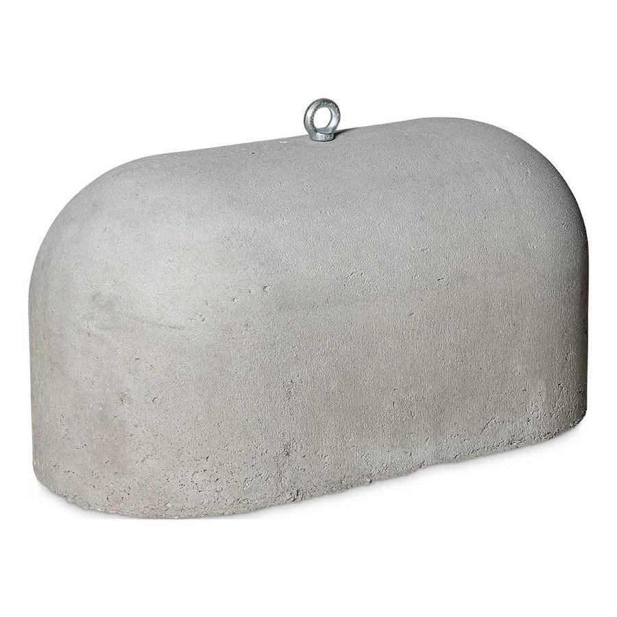 Jumboblok grijs met schroefhuls M16