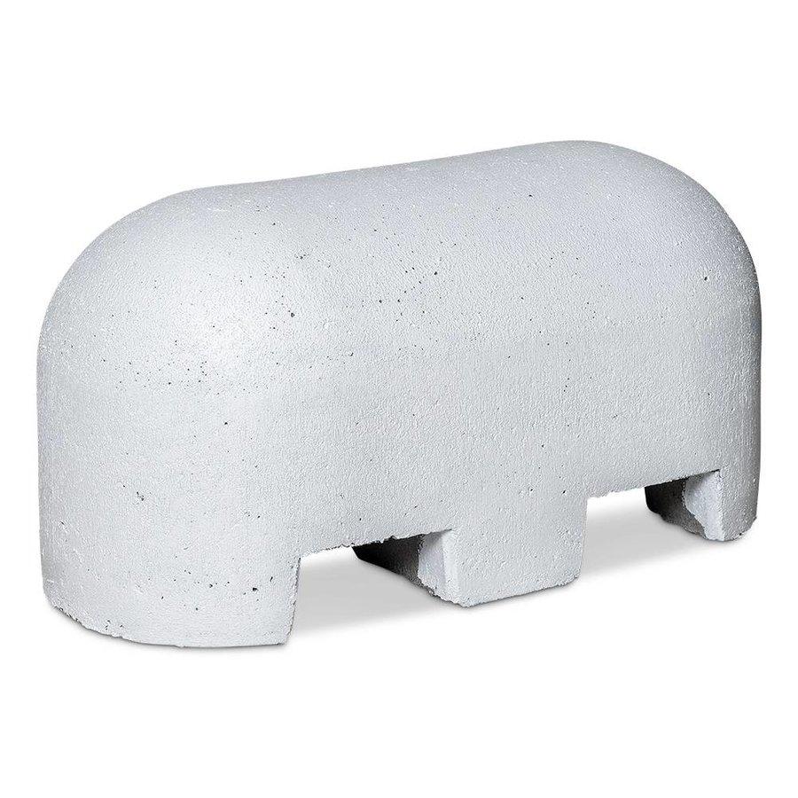 Jumboblok wit met lepelgaten