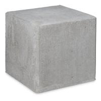 Kubus van grijs beton 50cm