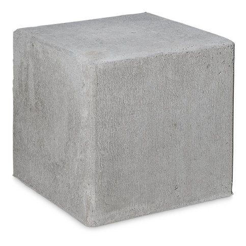 Kubus grijs beton 40 cm