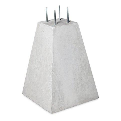 Betonpoer 25x25 en 70 cm hoog grijs M16 of M12