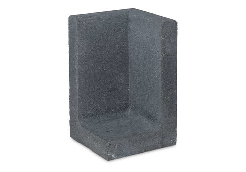 L element hoek 100 cm hoog en 50 cm breed antraciet