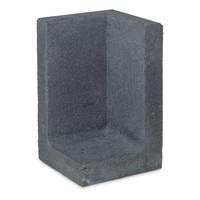 L element hoek 80 cm hoog en 50 cm breed antraciet