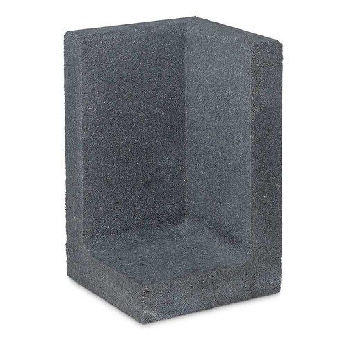 L element hoek 60 cm hoog en 40 cm breed antraciet