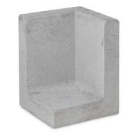 L element hoek 100 cm hoog en 50 cm breed grijs