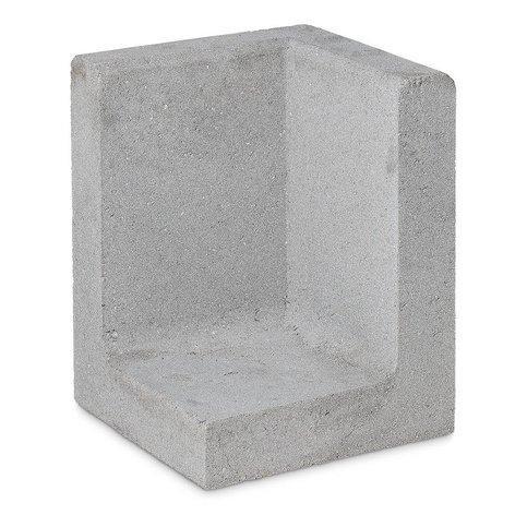 L element hoek 80 cm hoog en 50 cm breed grijs
