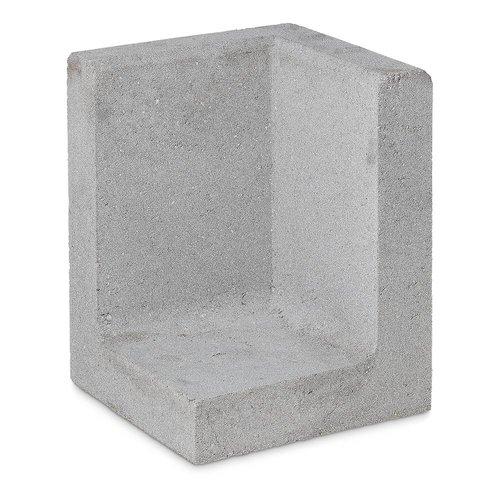 L-hoekelementen grijs 80 cm