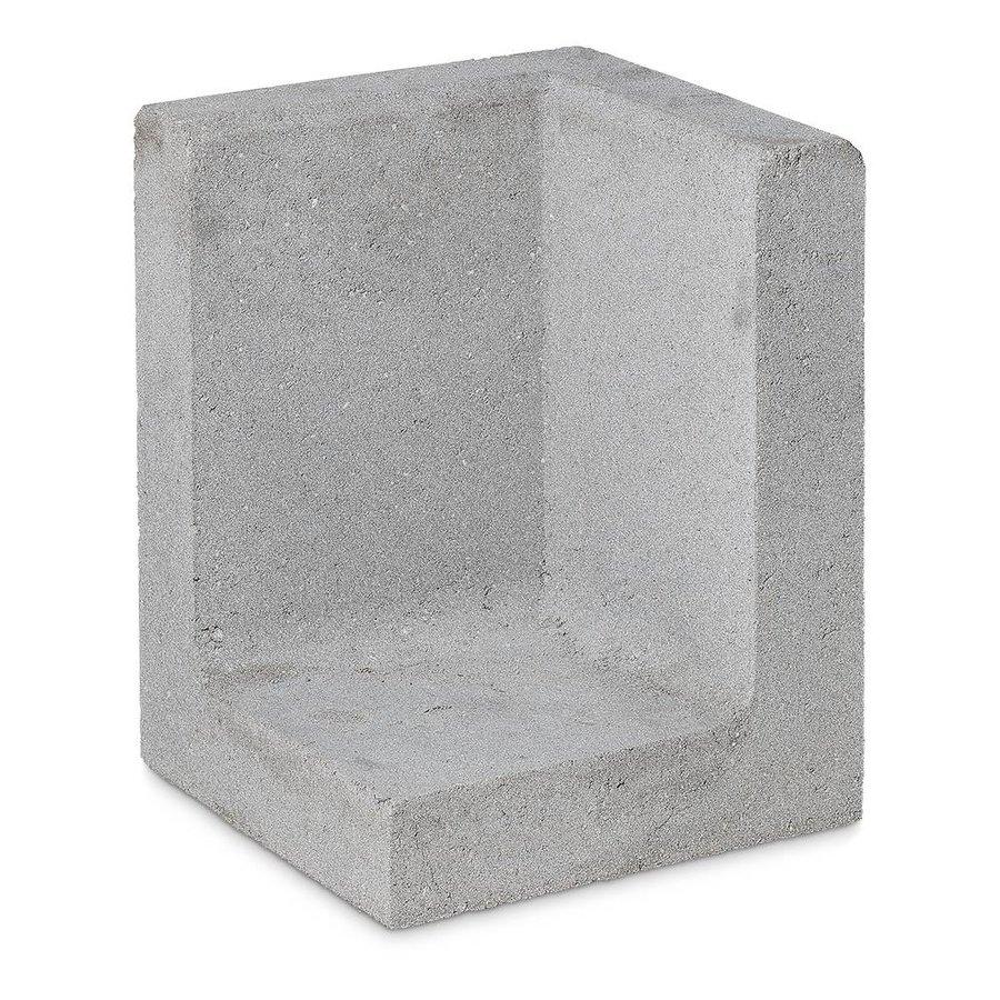 L-elementen hoek 80cm grijs