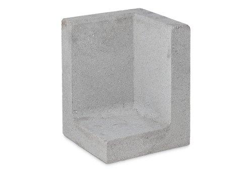 L-hoekelementen grijs 60cm