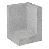 L element hoek 50 cm hoog en 30 cm breed grijs