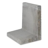 L-elementen grijs 80 cm hoog, 50 cm breed