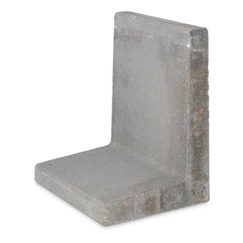 L elementen 80 cm hoog en 50 cm breed grijs