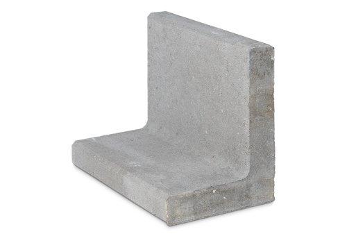 L elementen 50 cm hoog en 50 cm breed grijs