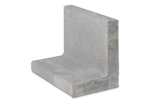L-elementen 40 cm hoog 50 cm breed grijs
