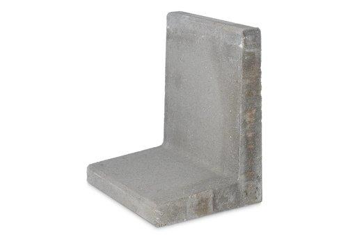 L-elementen grijs 60 cm hoog, 50 cm breed