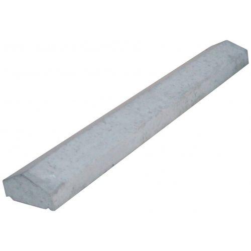 Muurafdekkers 2-zijdig, grijs 35x100 cm