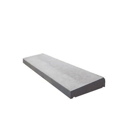 Muurafdekkers 1-zijdig, grijs 25x100 cm