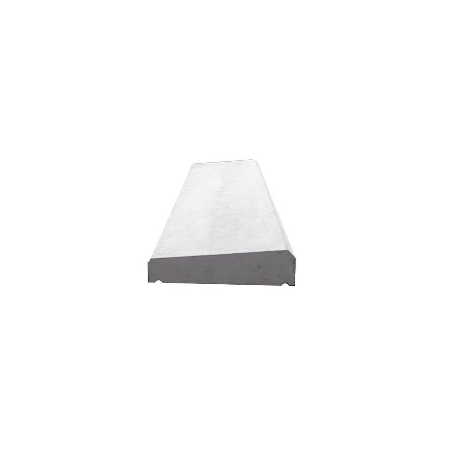 Muurafdekkers 1-zijdig, grijs 33x100 cm