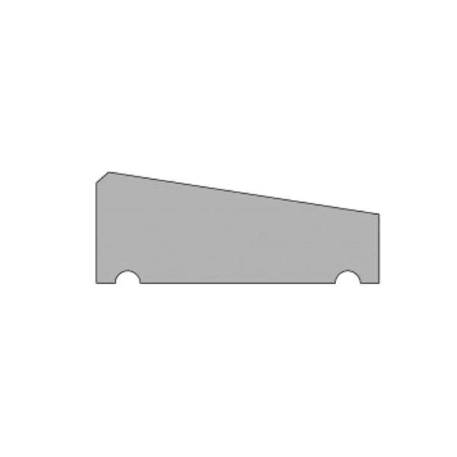 Muurafdekkers 1-zijdig, zwart gecoat 35cm x 100cm