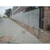 Amsterdammertjes (type 1) grijs beton H 105 cm