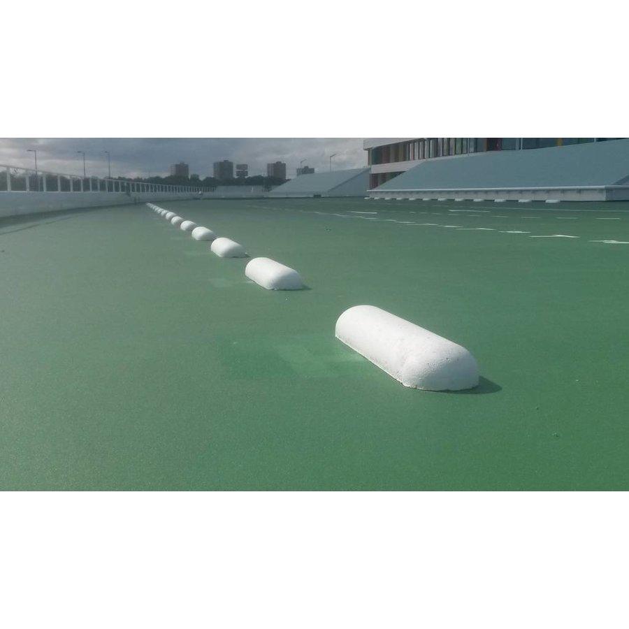 Varkensrug beton ROND wit