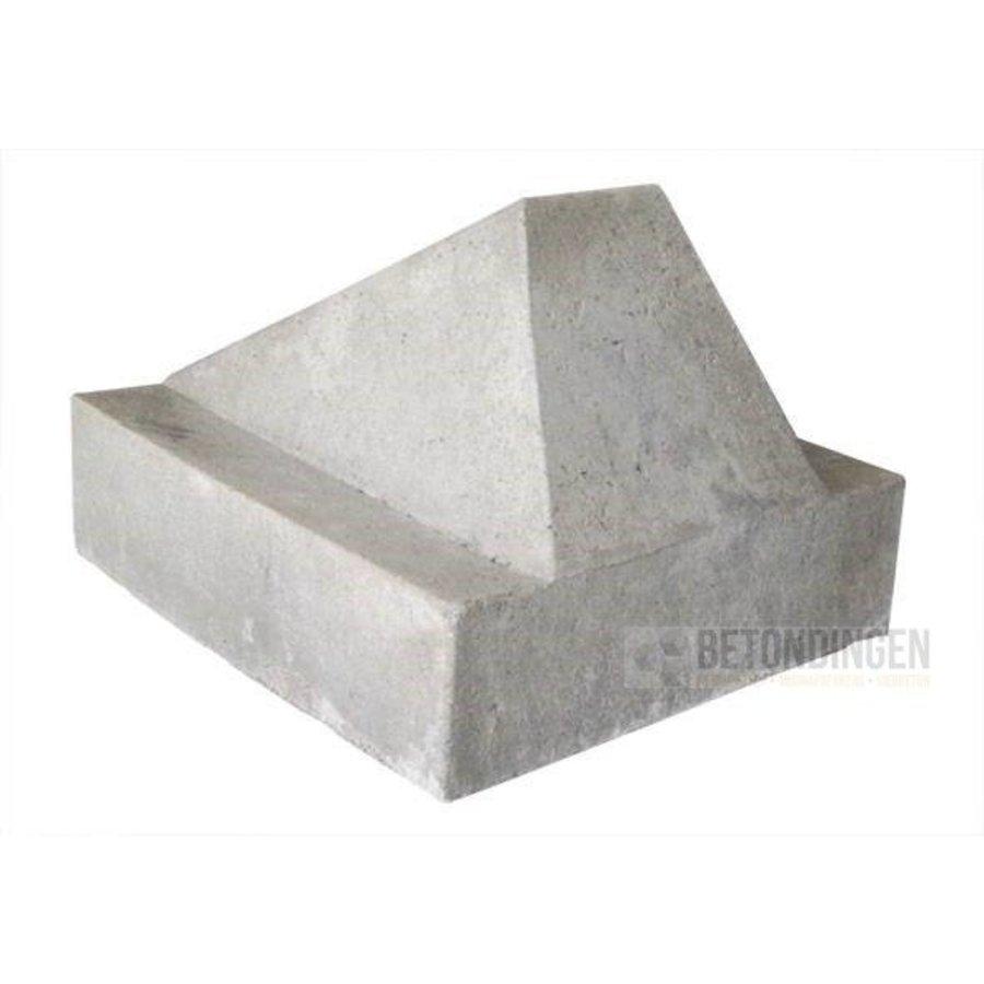 Schrikblok/ schampblok grijs