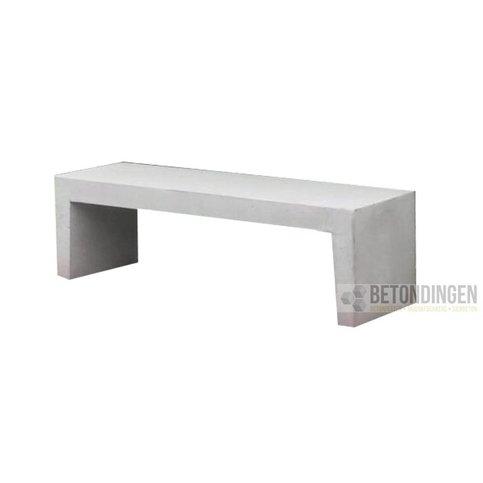 Tuinbank beton 180 cm wit/grijs