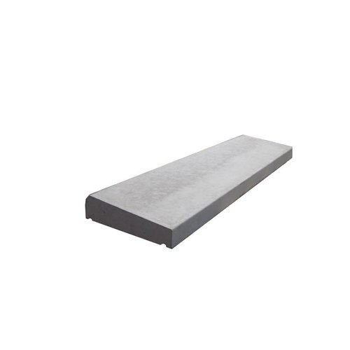 Muurafdekkers 1-zijdig, grijs 35x100 cm