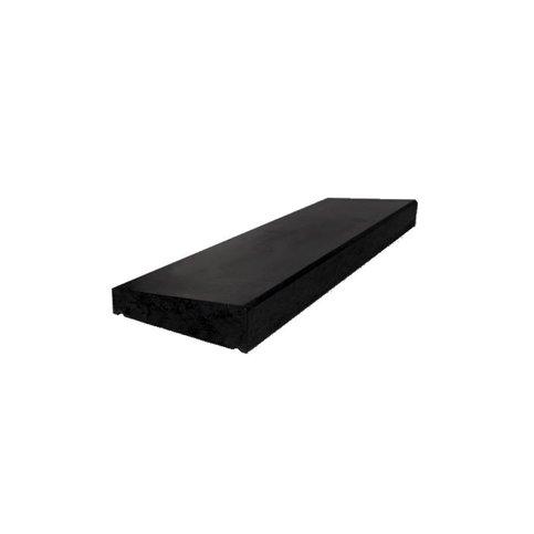 Muurafdekkers 1-zijdig, zwart gecoat 35x100 cm
