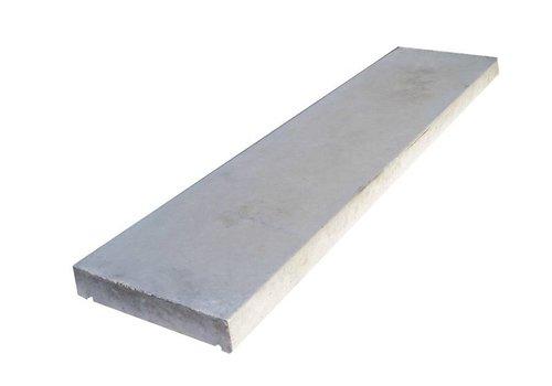 Muurafdekkers vlak, grijs 15cm x 100cm