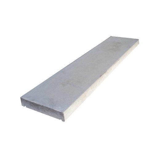 Muurafdekkers vlak, grijs 25x100 cm