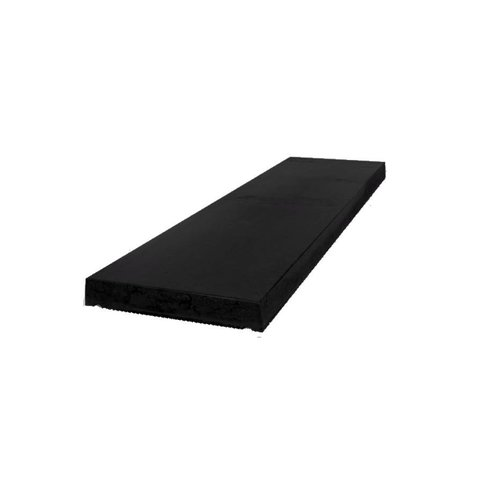 Muurafdekkers beton vlak zwart gecoat 20x100