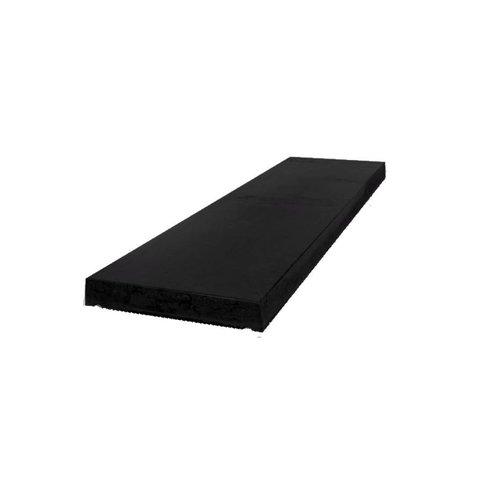 Muurafdekkers beton vlak zwart gecoat 25x100