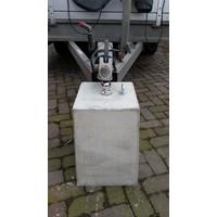 Prefab Betonpoer grijs 30x30x50 cm met trekhaak