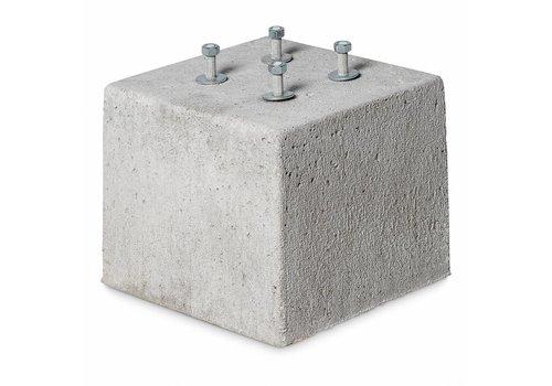 Prefab Betonpoer grijs 30x30x25 cm M12