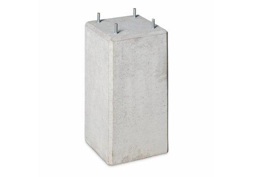 Betonpoer 22x22 en 45 cm hoog grijs M10