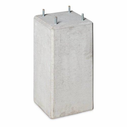 Prefab Betonpoer grijs 22x22x45 cm M10