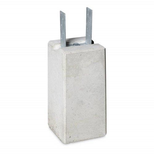 Prefab Betonpoer grijs 22x22x45 cm met strippen